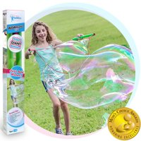 WOWmazing Kit 3-Piece Set | Incl. Big Bubble Wand, Giant Bubble Concentrate and Tips and Trick Booklet | Outdoor Toy for Kids, B