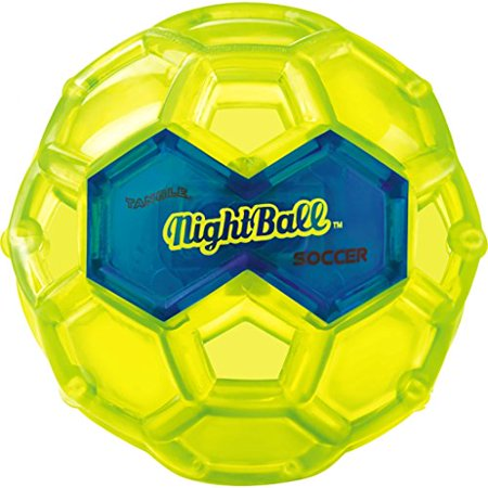 Glow In The Dark Green (Tangle NightBall Glow in the Dark Light Up LED Soccer Ball - Large (Green with)