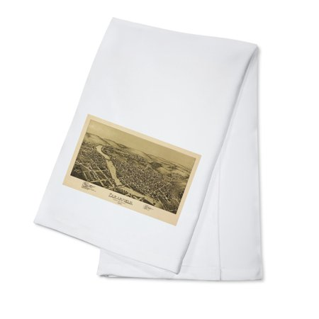 Clearfield  Pennsylvania   Panoramic Map  100  Cotton Kitchen Towel