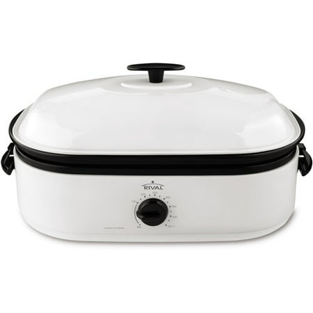 Rival 16 Quart Wide Mouth Roaster Oven with Basic Lid