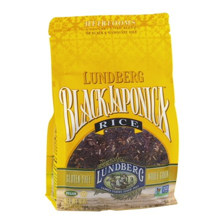 - Lundberg Family Farms Eco-Farmed Gourmet Black Japonica Field Blend Rice, 1 LB (Pack of 6)
