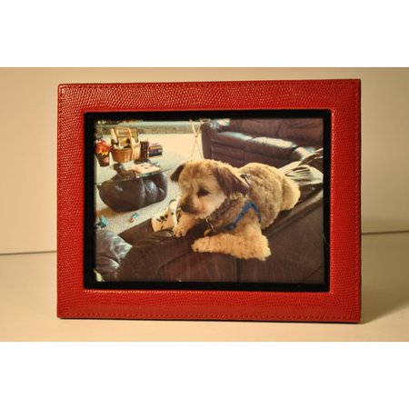 - Budd Leather Lizard Leather Picture Frame