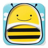 Skip Hop Zoo Divided Plate - Bee