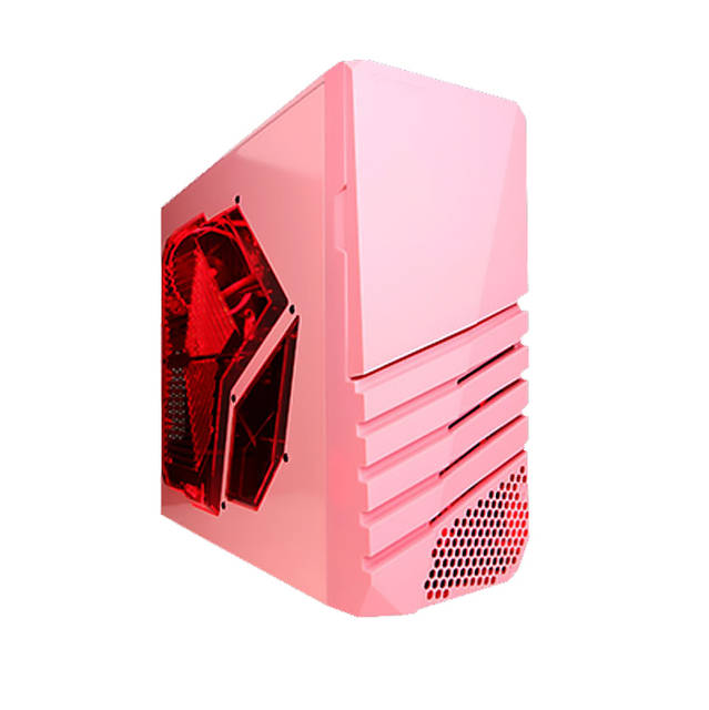 Apevia X-PIONEER-PK X-pioneer No Power Supply Atx Mid Tower [black/pink]