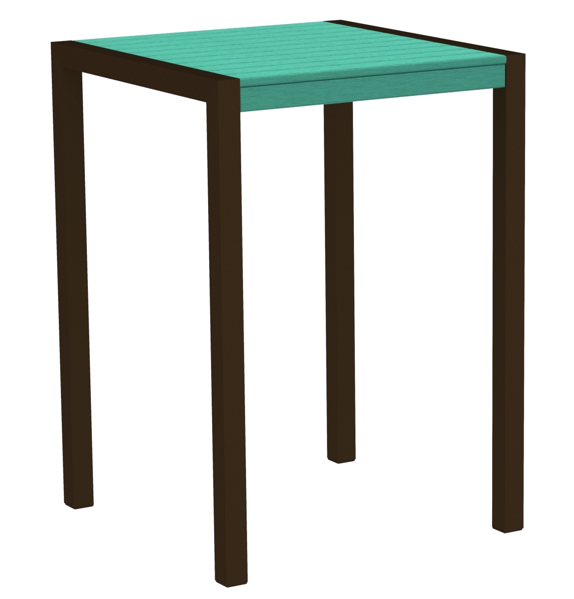 POLYWOOD 8002-16AR MOD 30' Bar Table in Textured Bronze / Aruba