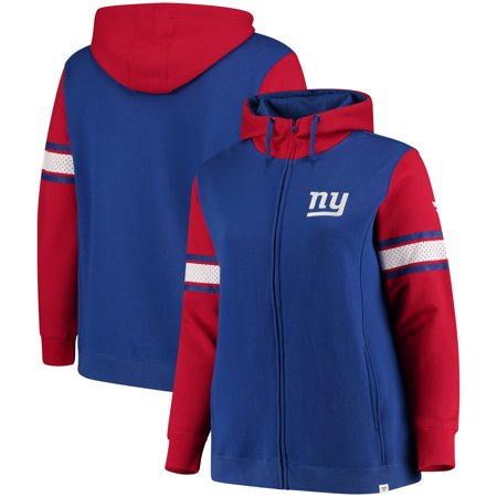 low priced 5cb22 880c4 New York Giants NFL Pro Line by Fanatics Branded Women's Plus Size Iconic  Raglan Fleece Jacket - Royal/Red - Walmart.com