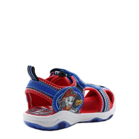 Paw Patrol Lighted Athletic Adventure Closed Toe Sandal (Toddler Boys)