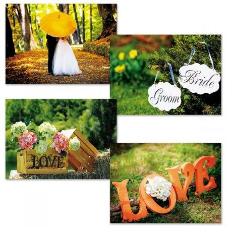 Simple Scenes Wedding Greeting Cards - Set of 8 (2 of each) - Wedding Greeting Cards