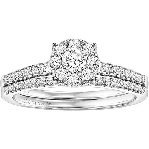 Keepsake Harmony 3/8 Carat T.W. Diamond Bridal Set in Sterling Silver