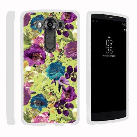 Pro Hard Coating (LG V10 | G4 Pro, [SNAP SHELL][White] Hard White Plastic Case with Non Slip Matte Coating with Custom Designs - Yellow Purple)