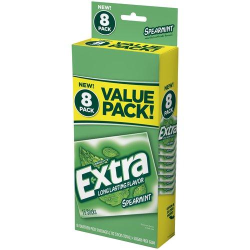 Extra Spearmint Sugar Free Gum, 14 pc, 8 count