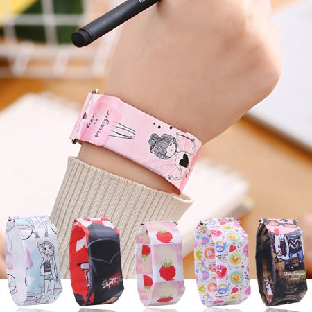 Creative paper watch LED waterproof electronic watch Student Watch - image 5 of 6