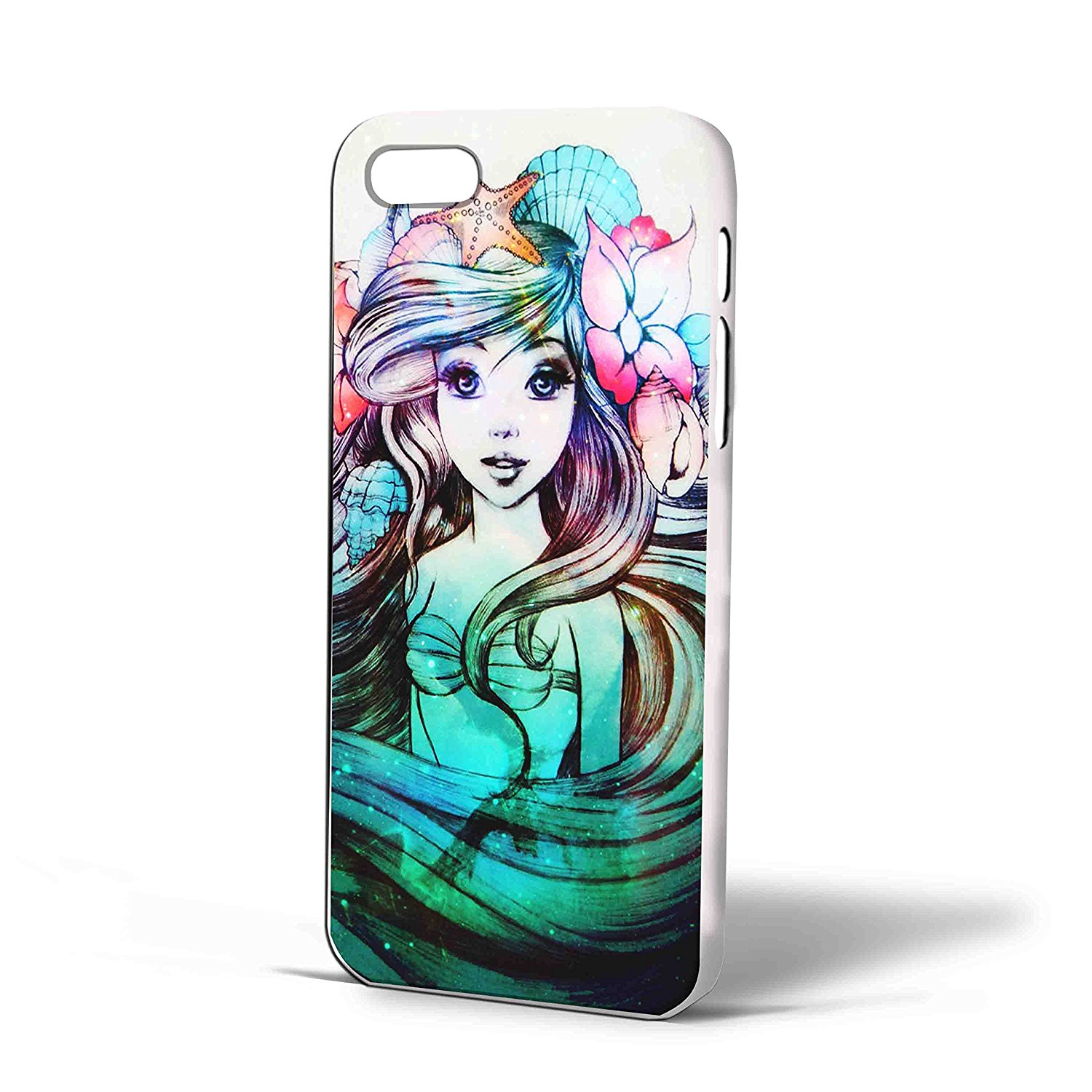 Ganma Beautiful Ariel the Little Mermaid Case For iPhone Case (Case For iPhone 6 Plus White)