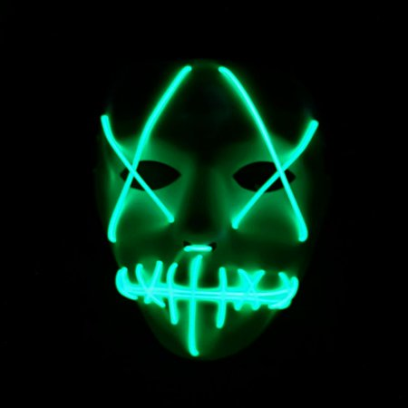 Ghost Face Halloween Mask (Fymall LED Light Halloween Glowing Mask Ghost Face Party)