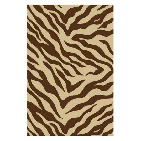 Zebra Print Accents - Well Woven Kings Court Zebra Animal Print Brown Area Rug