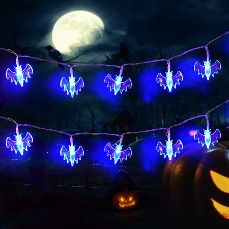 timeless design 21ea5 31939 Halloween String Lights, 11.5ft 30 LED Halloween Decorations Lights String  Battery Operated Bat Lights with 8 Lighting Modes Indoor Outdoor Party ...