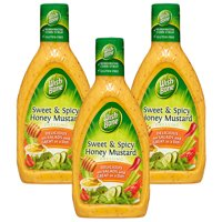 (3 Pack) Wish-Bone Salad Dressing, Sweet & Spicy Honey Mustard, 15 Fl Oz