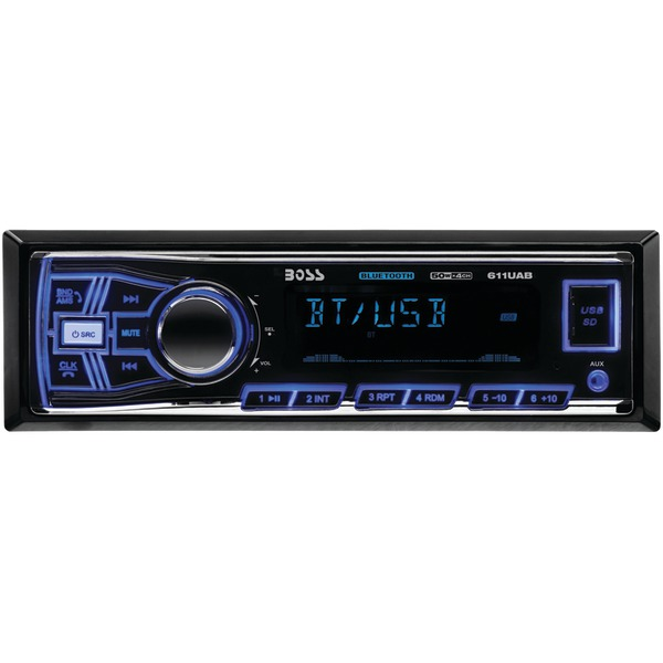 Boss Audio 611UAB Single-DIN In-Dash Mechless AM/FM Recei...