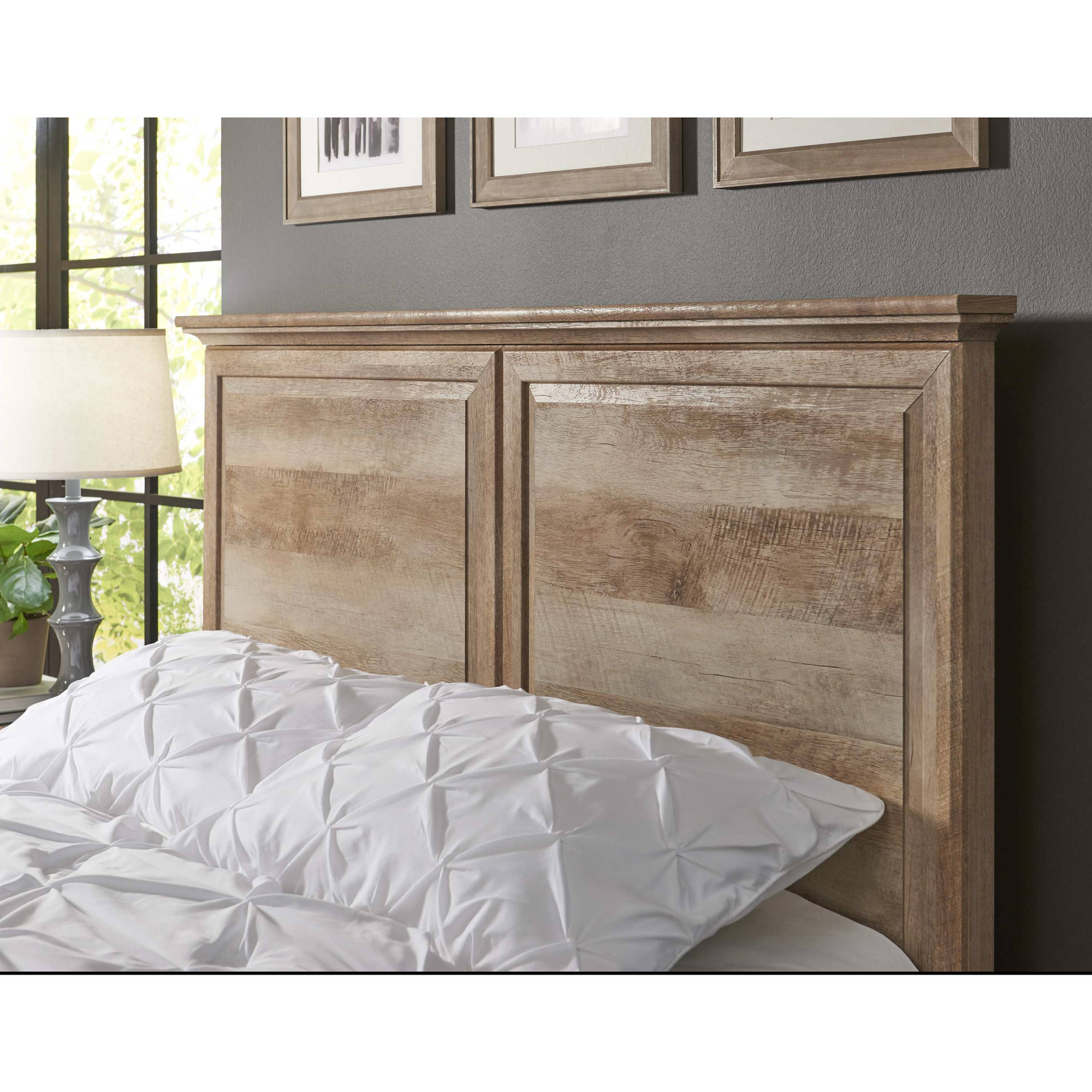 better homes and gardens crossmill queen headboard weathered finish rh walmart com