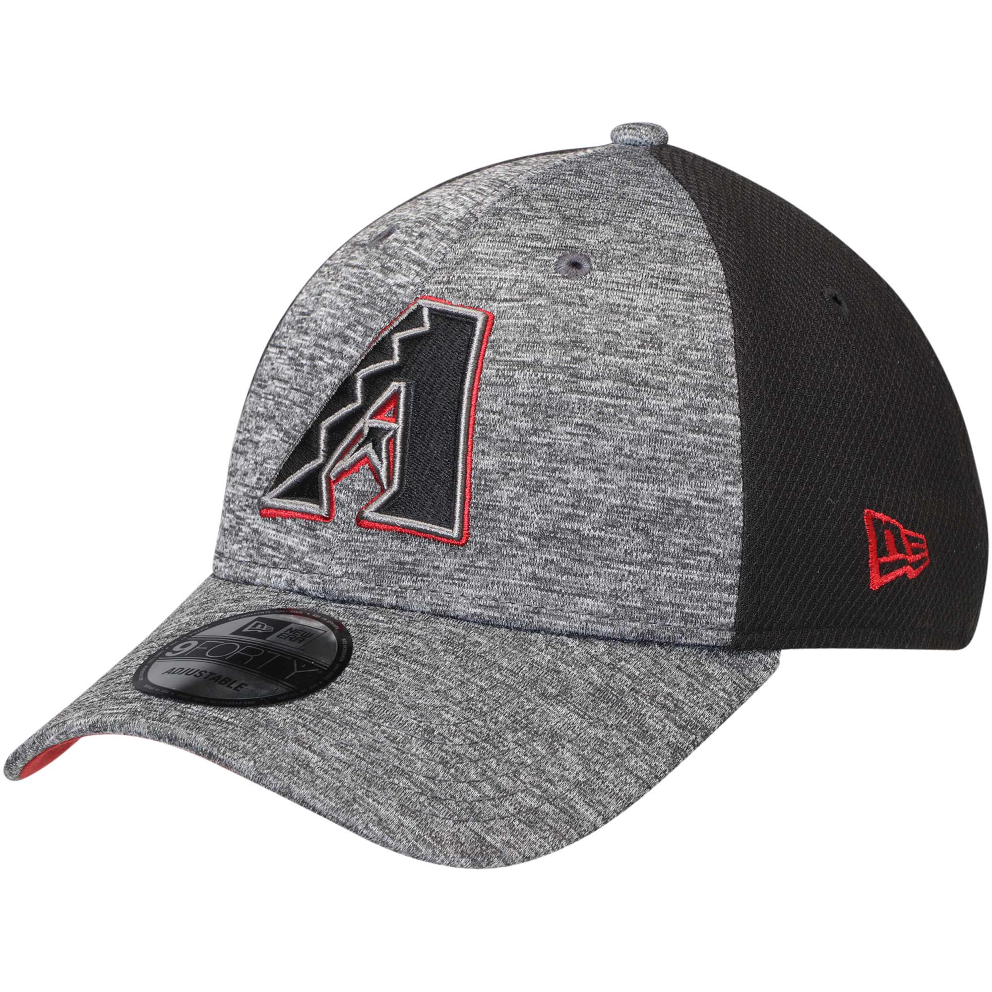 Arizona Diamondbacks New Era Shadowed Team Logo 9FORTY Adjustable Hat - Heathered Gray/Black - OSFA