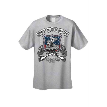 Men's T Shirt USA Flag Don't Tread on me Defend Liberty