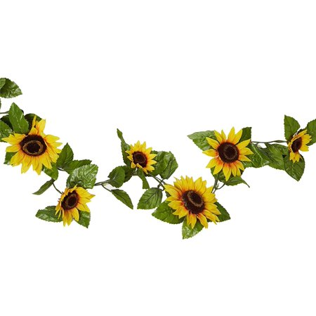6 Foot Artificial Yellow Sunflower Garland By Factory ...