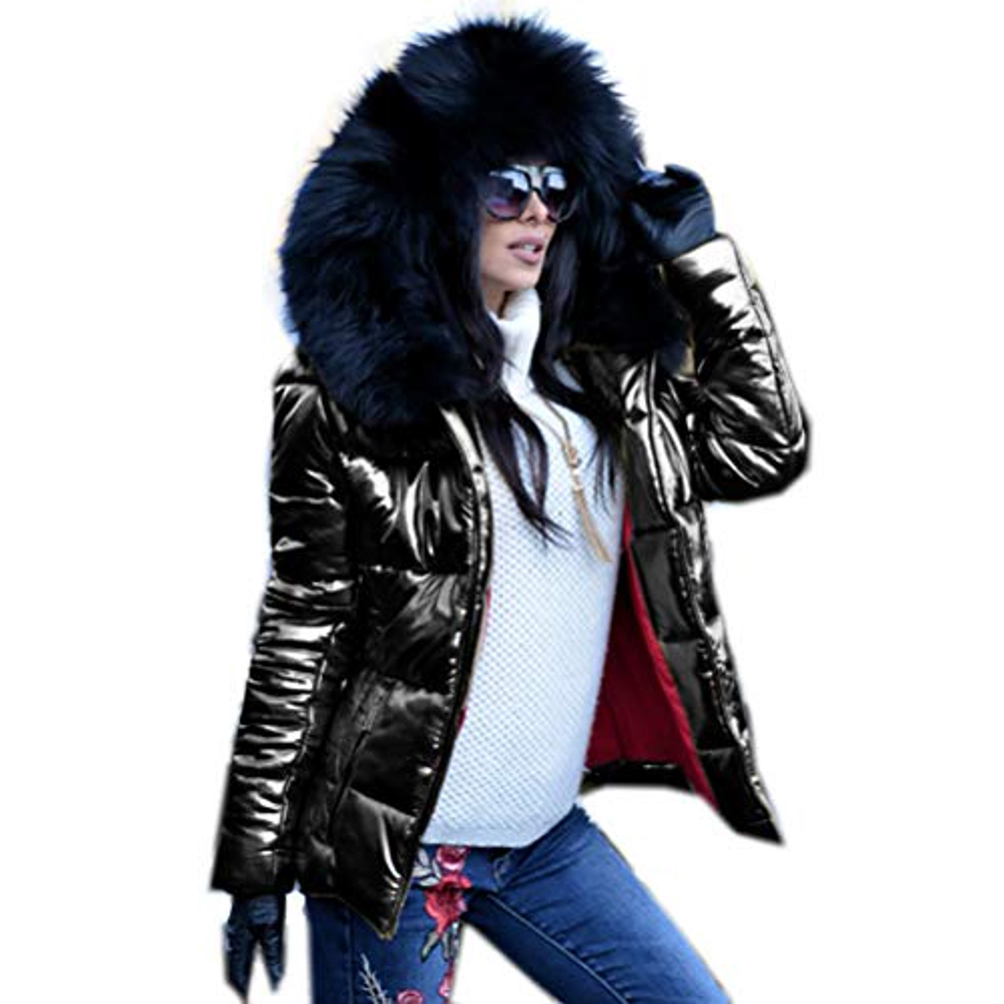 c7bb4121d Roiii Women Winter Warm Down Jacket Ladies Thick Slim Flash Forward ...