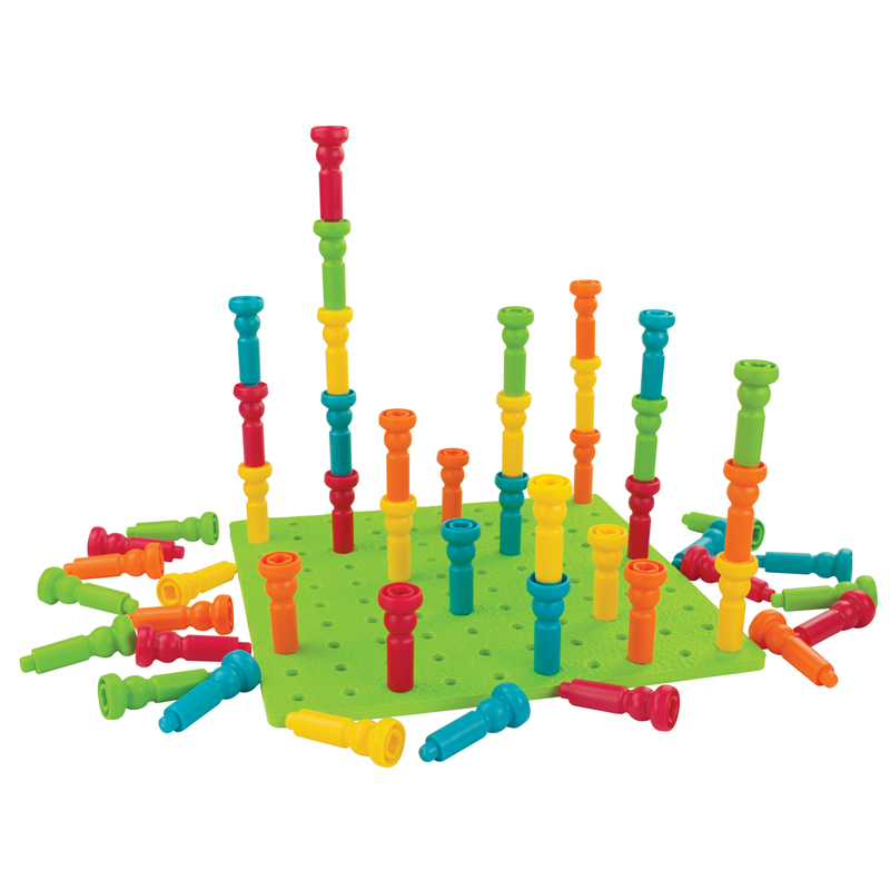 Deluxe Tall-Stackers Pegs & Pegboard Set