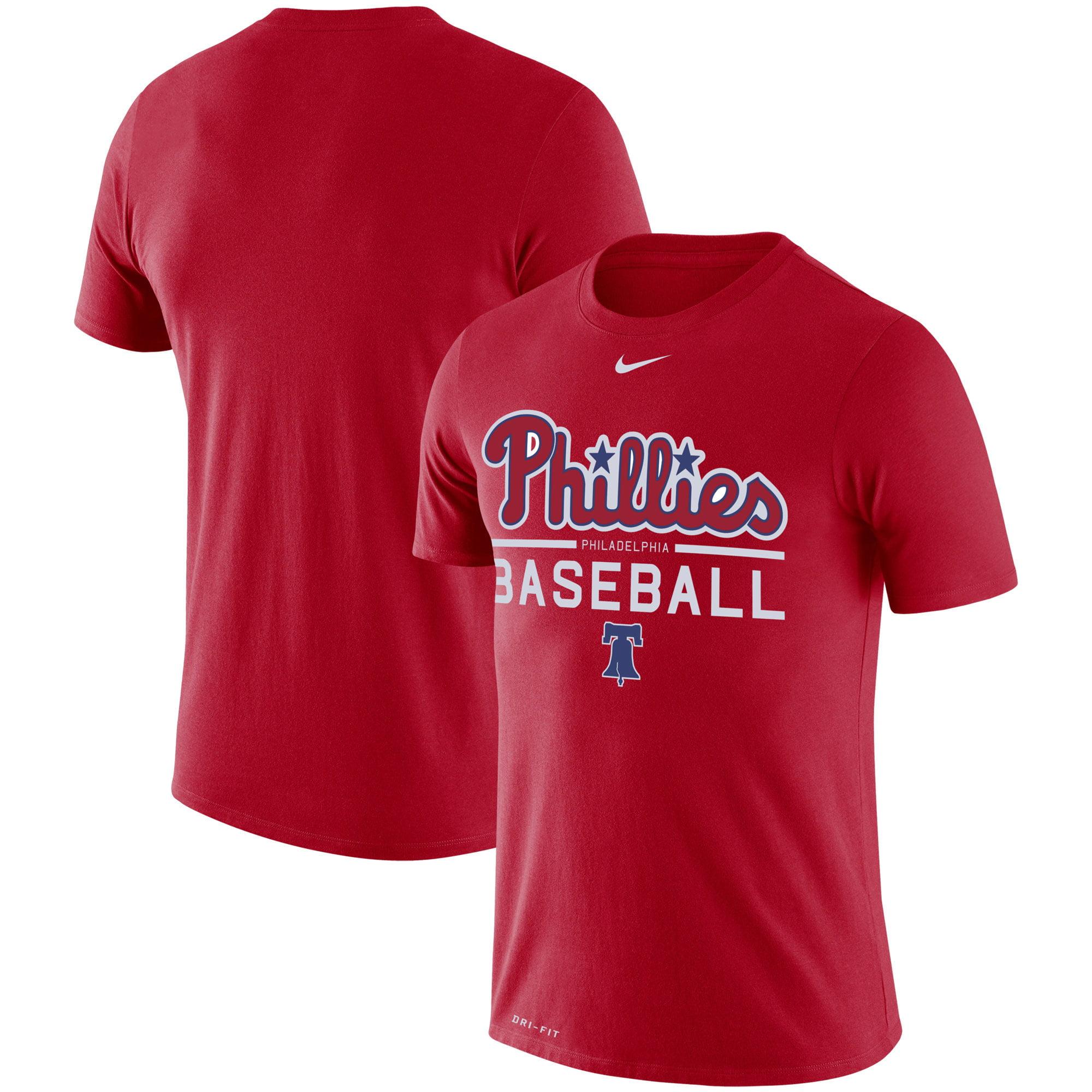 Philadelphia Phillies Nike Practice Performance T-Shirt - Red