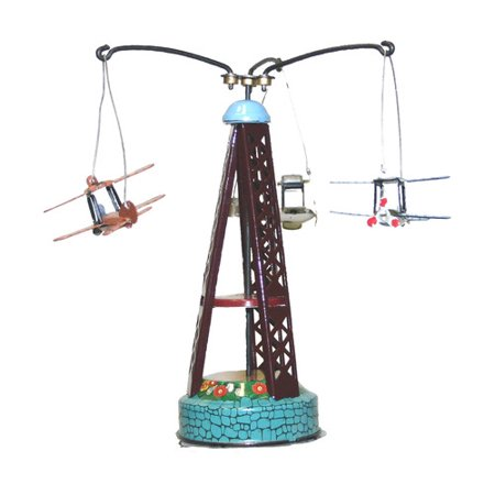 Alexander Taron Collectible Decorative Tin Biplane Carousel