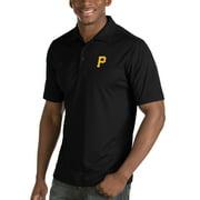 Pittsburgh Pirates Antigua Inspire Desert Dry Polo - Black