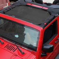 Sun Shade Mesh Sunshade Full Top Cover UV Protection For Jeep Wrangler JK 4 door