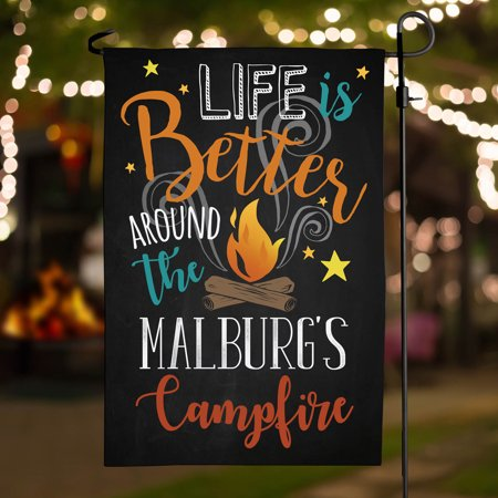 Around the Campfire Personalized Garden Flag