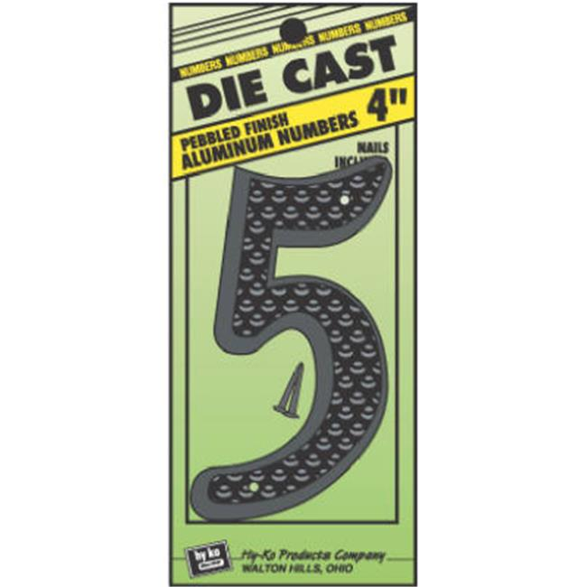 Hy-Ko Products DC-4-5 4 in. Black Aluminium Number 5 - image 1 de 1