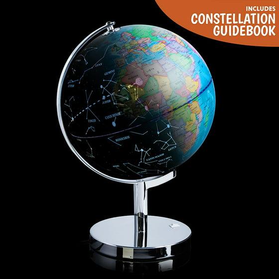 3 in 1 illuminated world globe night light and constellation 3 in 1 illuminated world globe night light and constellation globe gumiabroncs Gallery