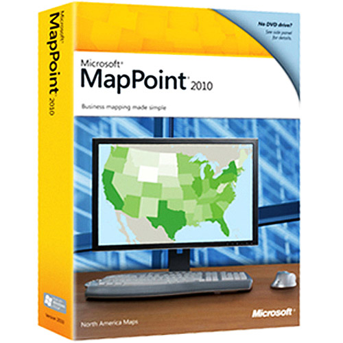 Microsoft MapPoint 2010 with GPS Locator for Windows