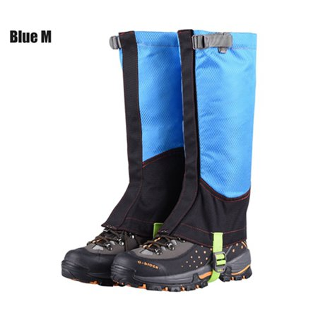 1 Pair Outdoor Camping Hiking Climbing Waterproof Snow Legging Gaiters For Men Women Teekking Skiing Desert Snow Boots Shoes Covers M BLUE thumbnail