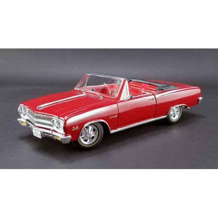 1965 Chevrolet Malibu Chevelle SS Z16 Convertible Red Fact or Fiction? Ltd Edition to 390 pieces 1/18 Diecast by Acme 1965 Chevelle Malibu Convertible