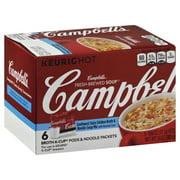 Campbell Soup Campbells Keurig Hot Fresh-Brewed Soup Broth & Noodle Soup Mix, 6 ea