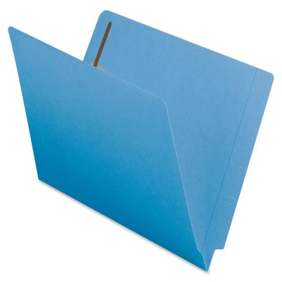 Smead 25040 Blue End Tab Colored Fastener File Folders with Reinforced Tab SM...