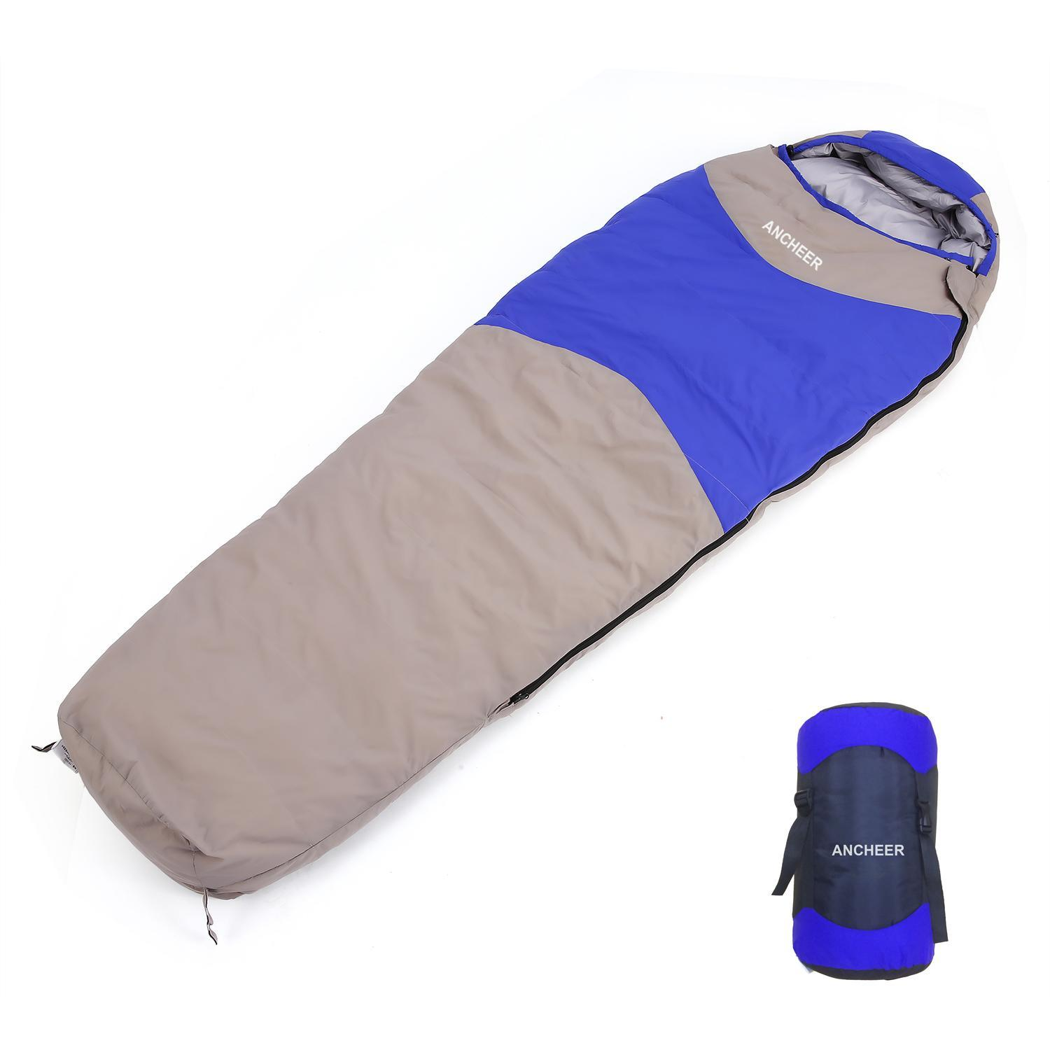Fashion 15 Degree Ultralight Mummy Down Sleeping Bag Winter for Camping Hiking Travel ROJE by