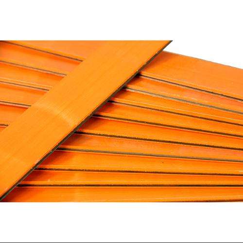 """Club Pack of 25 Orange Colored Wooden Straight Edges with Metal Strips - 12"""""""