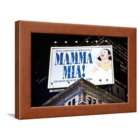 Advertising - Mamma Mia - Times square - Manhattan - New York City - United States Framed Print Wall Art By Philippe Hugonnard (Halloween New York Times Square)