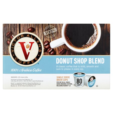 Victor Allens Coffee Donut Shop Blend Single Serve Brew Cups  0 35 Oz  80 Count