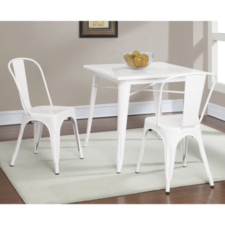 Dimensions furniture tabouret white metal dining table for White metal dining table