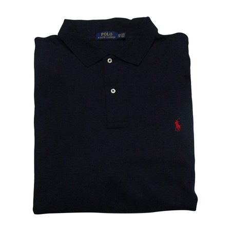 - Ralph Lauren Men's Big and Tall Interlock Polo Shirt, Pony Logo, Classic Fit. (Ink, 4XB)