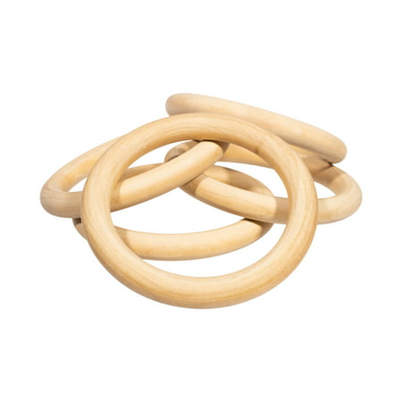 Craft County Unfinished Natural Wood Rings in Multiple Sizes & Packs for DIY Crafts & Projects - Jewelry Making, Macrame Wall Hanging, Napkin Ring, Wooden Toy, and More - Unfinished Wood Craft Supplies