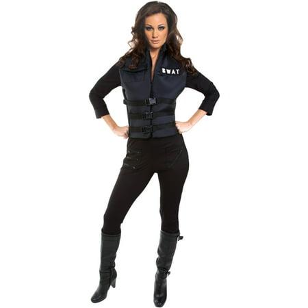 Morris Costumes Lady Swat Stretch jumpsuit, SWAT vest. ADULT SIZE 4-6, Small, Style UR29230SM](Swat Costume Vest)