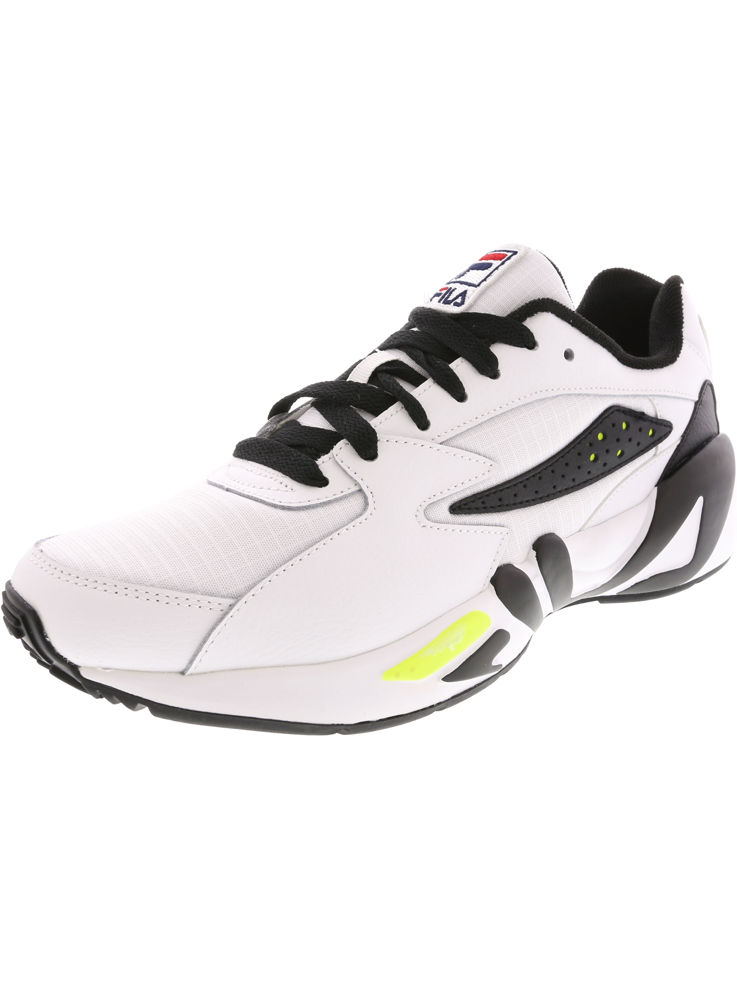 Fila Men?s Mindblower SLV Athletic Style Casual Sneaker - 10M - White / Black / Soft Yellow