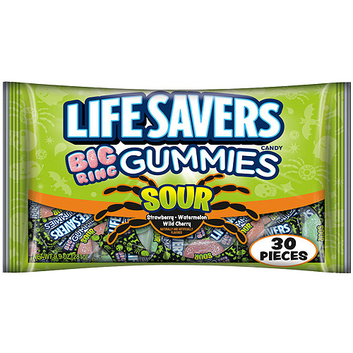 Life Savers Big Ring Sour Gummies Candy 30 Count 9 9 Oz